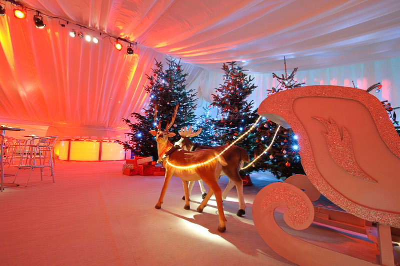Santas Sleigh At Office Christmas Party